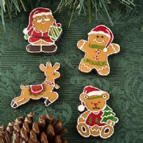 Gingerbread Themed Christmas Magnets